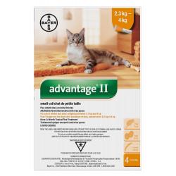 Advantage II small cat <4kg