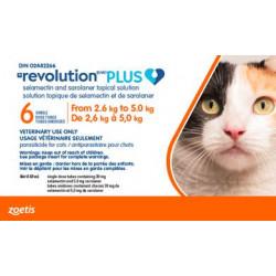 Revolution Plus orange 2.6-5.0kg feline