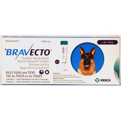 Bravecto Topical 1000mg (Dogs >20-40kg)