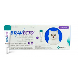 Bravecto Topical 250mg (Cat >2.8-6.25kg)