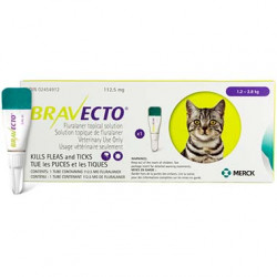 Bravecto Topical 112.5mg (Cats 1.2-2.8kg)